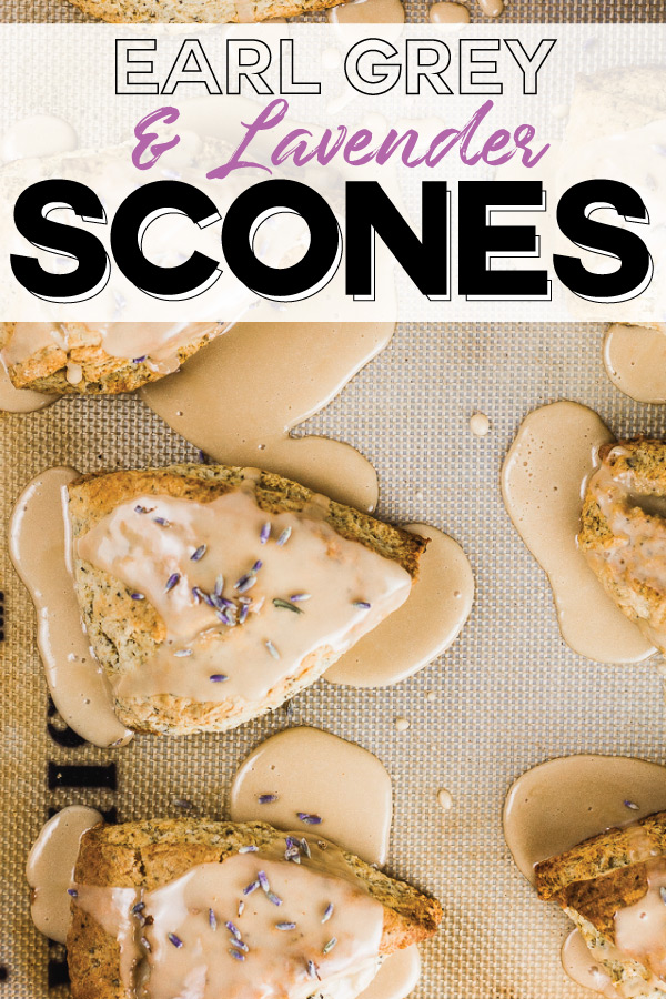 Earl Grey and Lavender Scones Recipe with Lavender Glaze