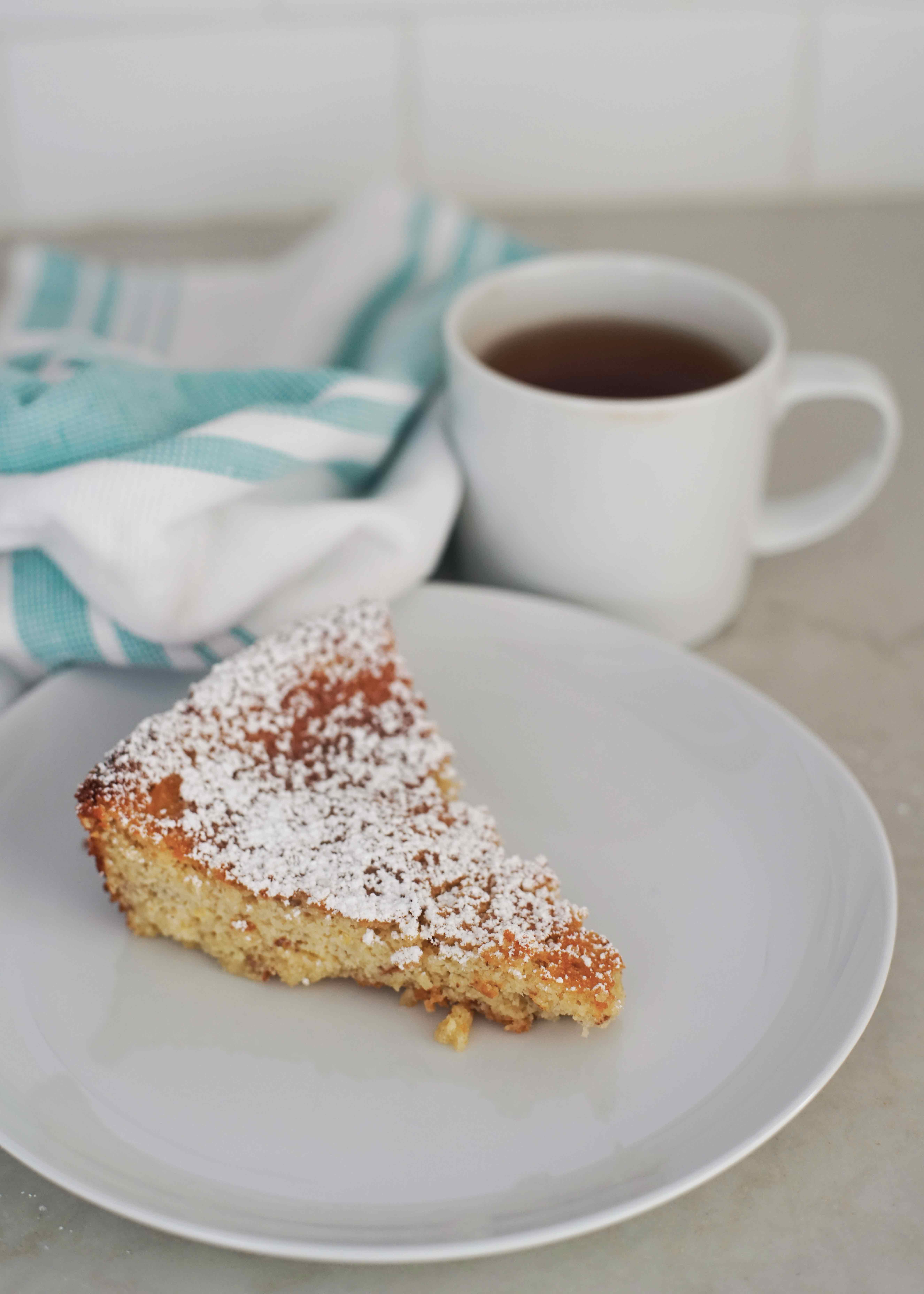 Almond tea cake for tea time paired with black tea