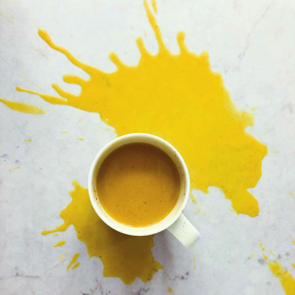 Golden Milk Spill