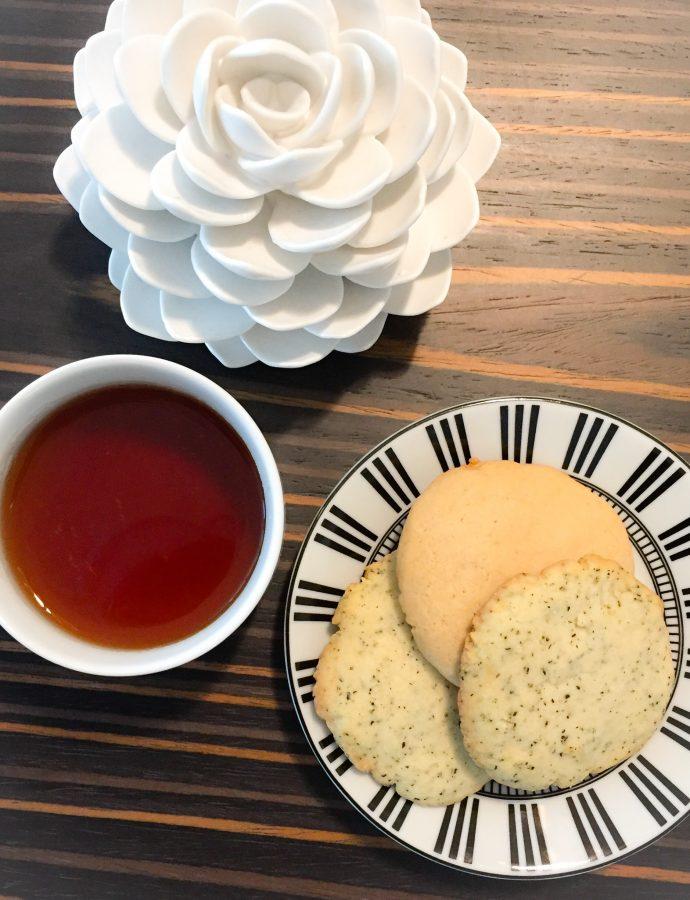 Earl Grey Cookies 2 Ways