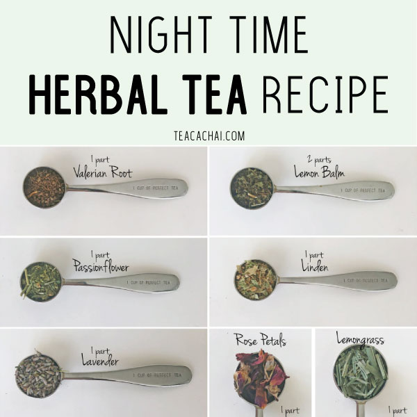 Night Time Herbal Tea Recipe for Pinterest
