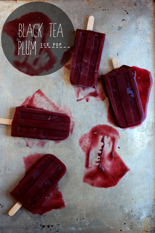 Hungrygirlporvida- Black Tea Plum Popsicles recipe