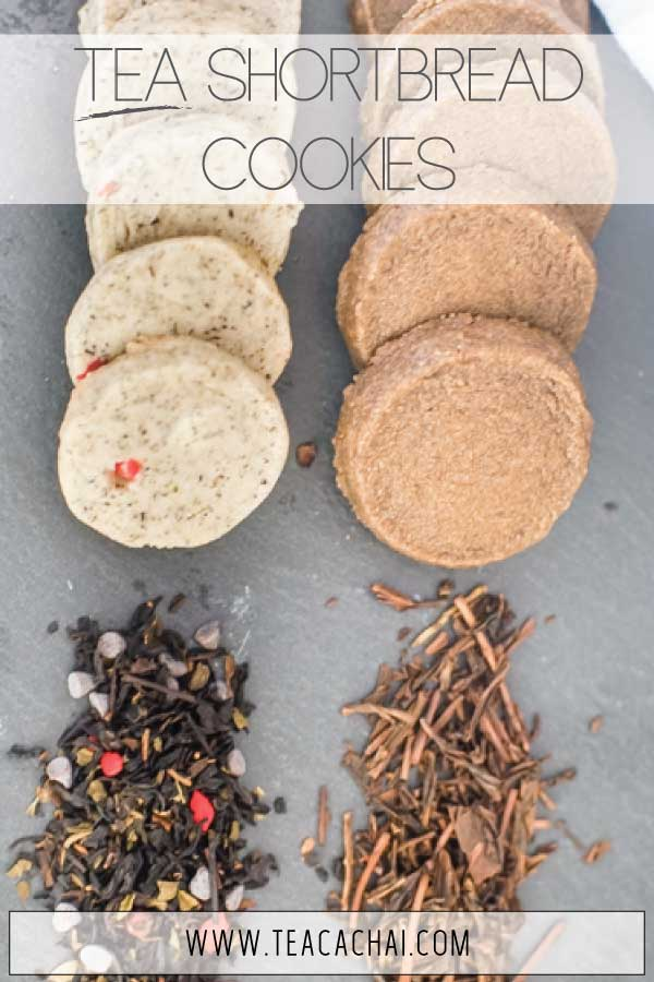 Tea Shortbread cookies made with Hojicha and a choco-mint blend, easily customizable!