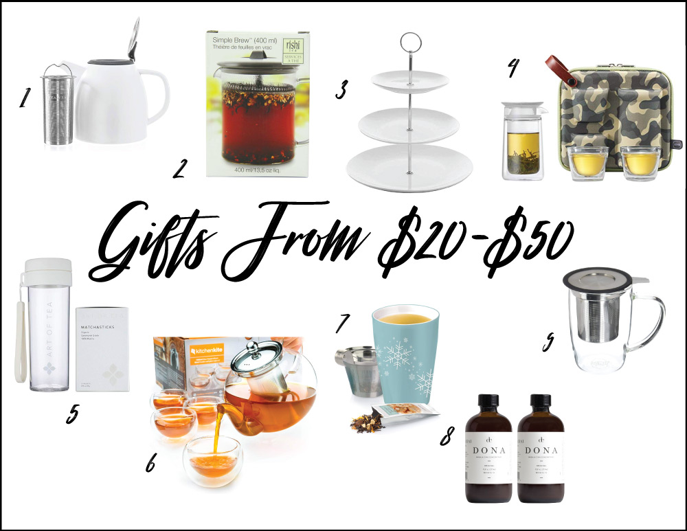 Amazon Tea Gift Guide Gifts from $20 to $50