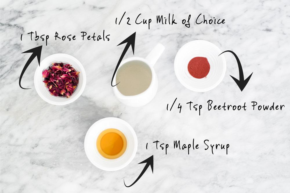 Rose Latte Ingredients