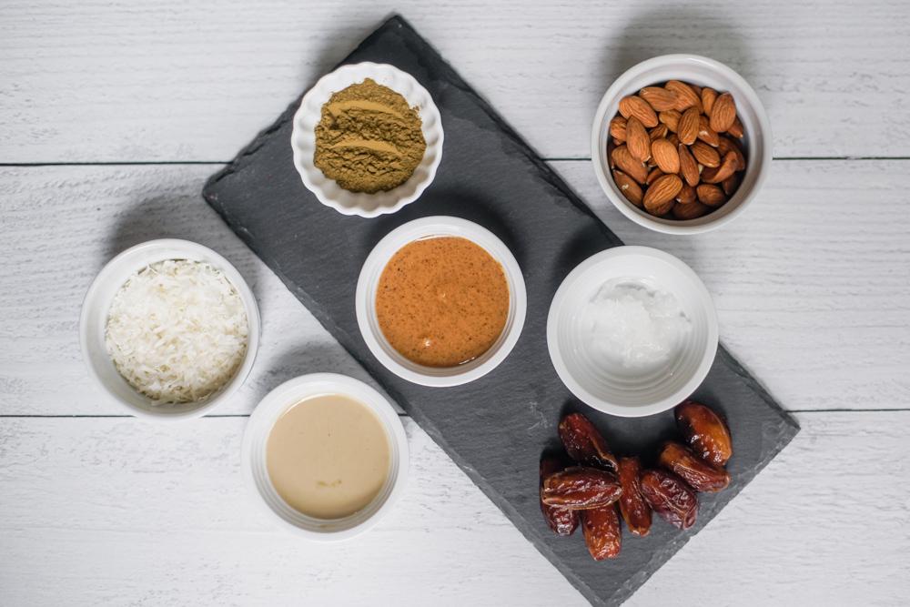 Hojicha Bliss Balls Ingredients