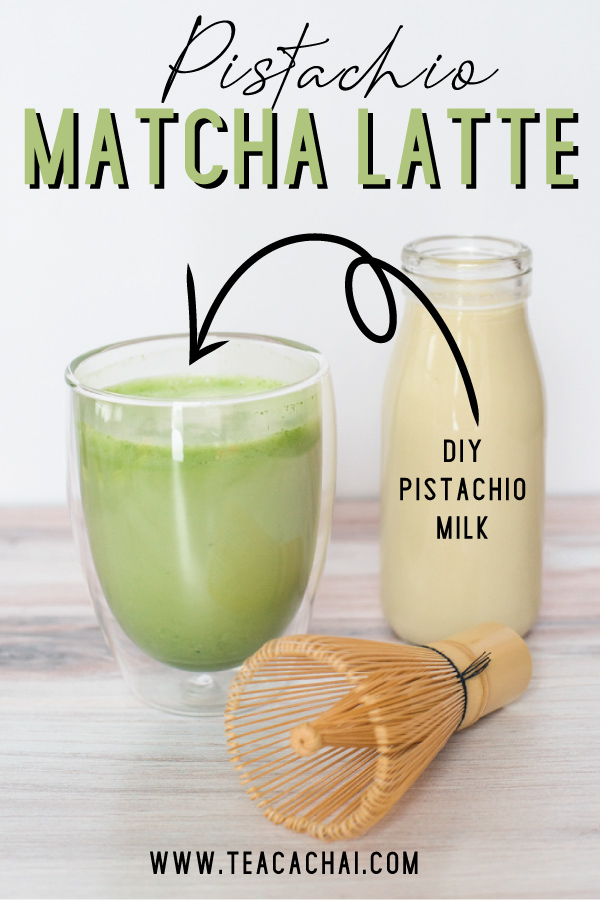 How to Make a PIstachio Matcha Latte, recipe plus DIY pistachio milk