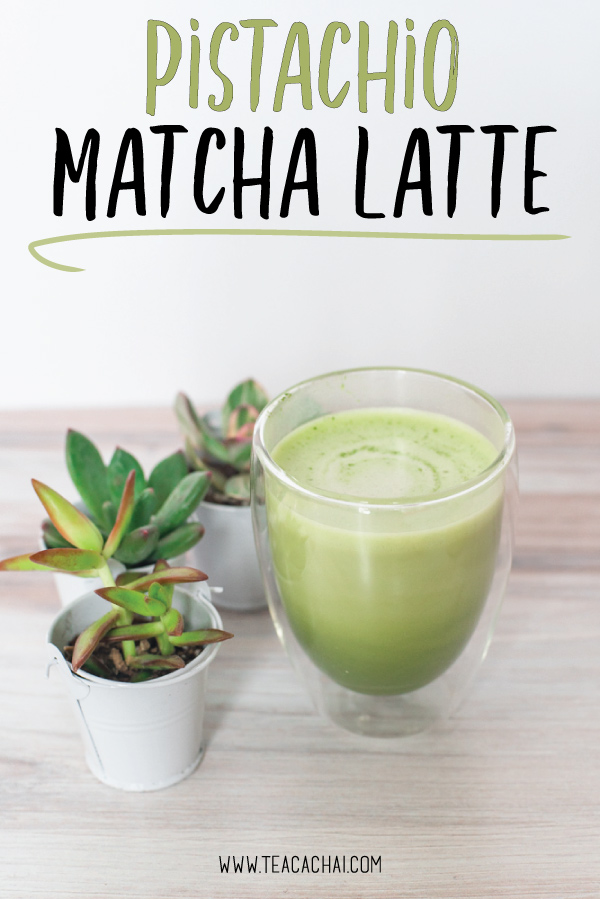 Make a pistachio Matcha latte at home with homemade pistachio milk