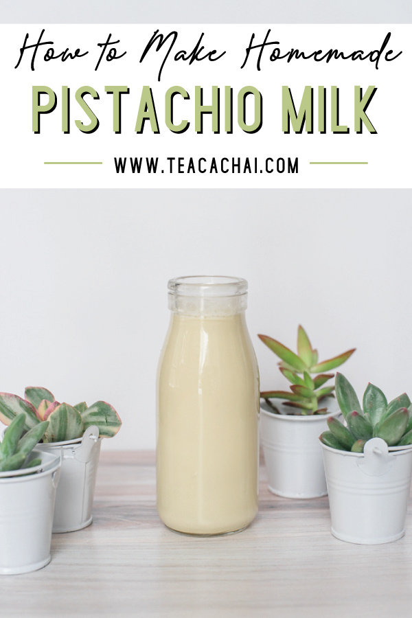 How to Make homemade pistachio milk