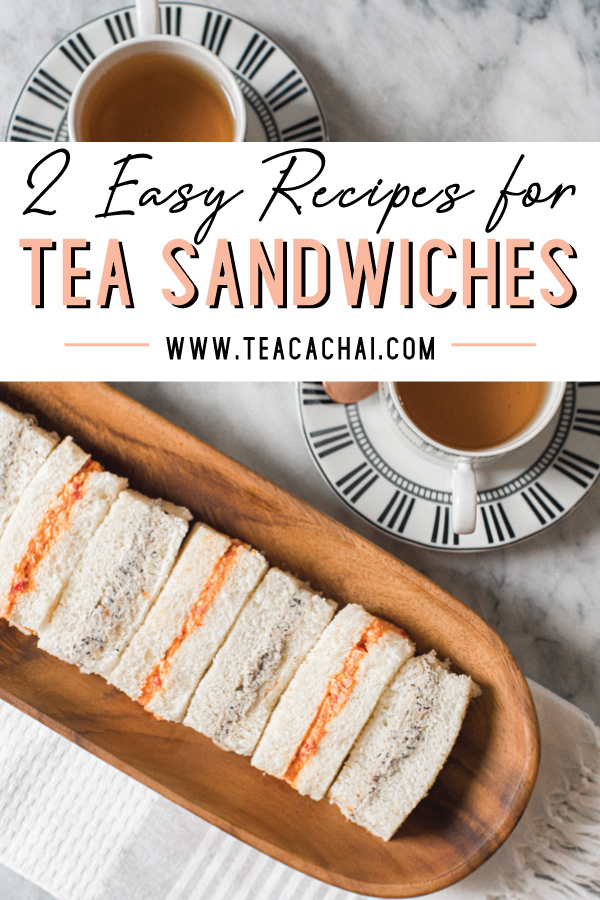 Chicken roasted pepper tea sandwiches and Lapsang Souchong, walnut and vegan cream cheese recipes for tea sandwiches