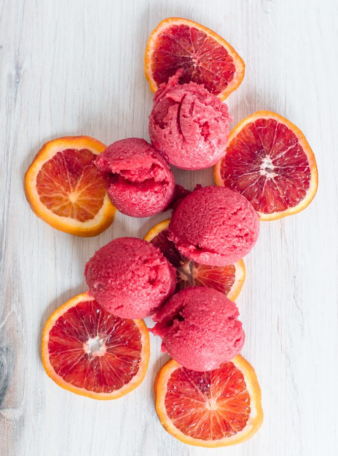 Blood Orange and Rooibos Sorbet
