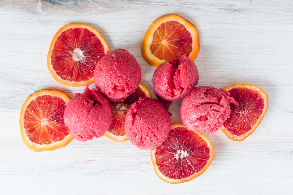 Rooibos and Blood Orange Sorbet