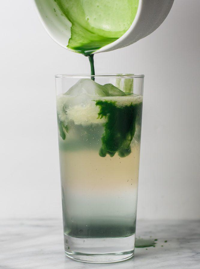 Sparkling Matcha Lavender Lemonade Recipe
