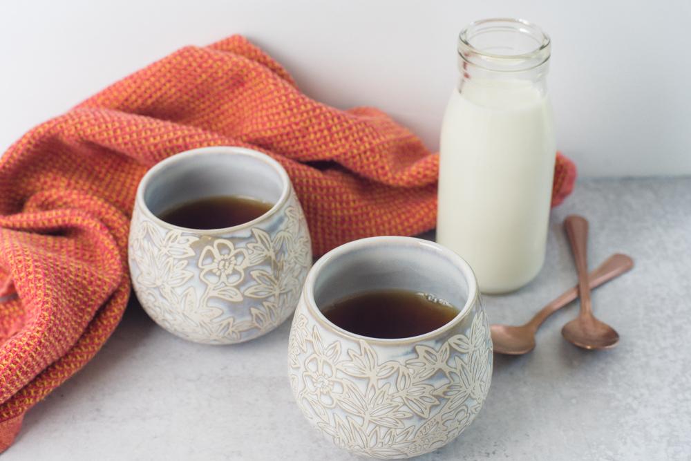 Assam tea and milk