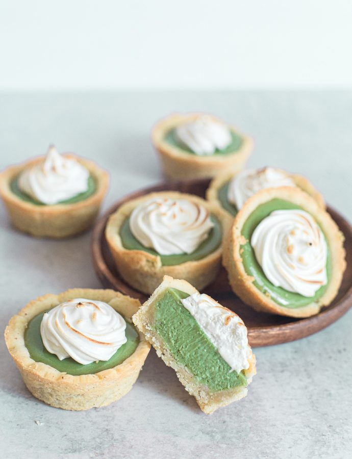 Matcha Mini Lemon Meringue Pies