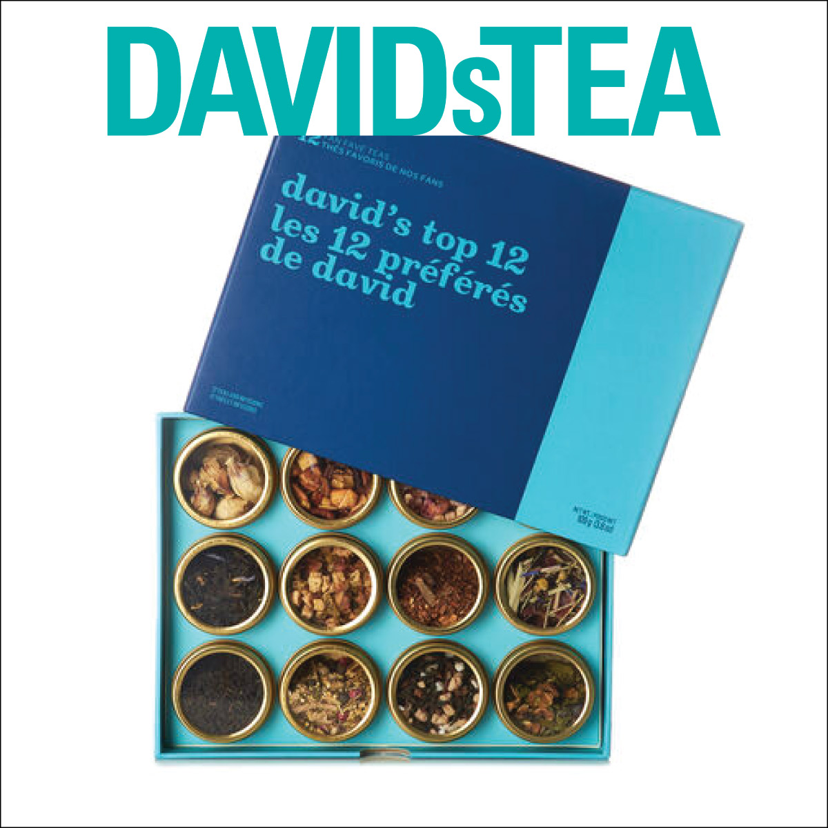 Davids Tea Top 12 Teas