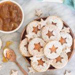 Earl Grey Linzer Cookies
